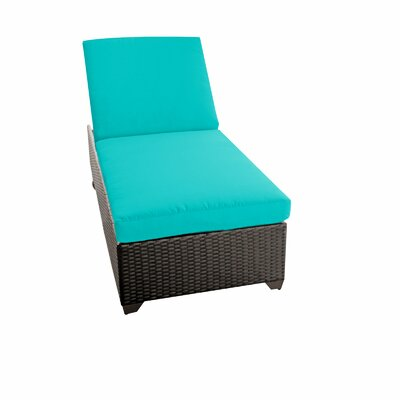 Classic Chaise Lounge with Cushion Color: Aruba