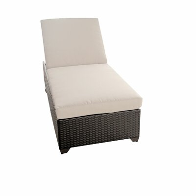 Classic Chaise Lounge with Cushion Color: Beige