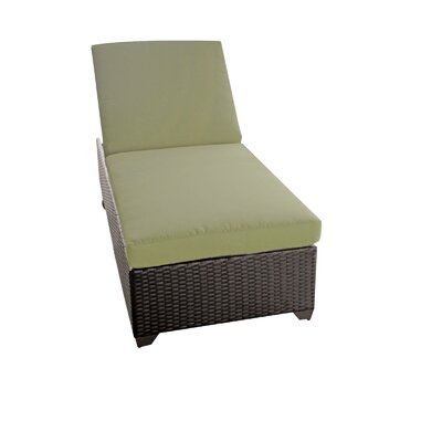 Classic Chaise Lounge with Cushion Color: Cilantro