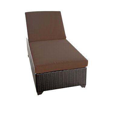 Classic Chaise Lounge with Cushion Color: Cocoa