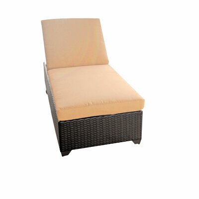Classic Chaise Lounge with Cushion Color: Sesame
