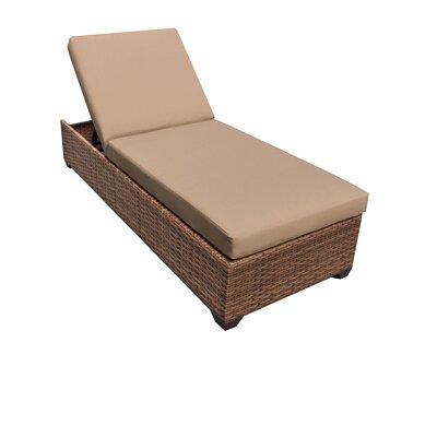 TK Classics Laguna Chaise Lounge with Cushions - Finish: Wheat