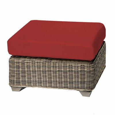 Cape Cod Ottoman with Cushion Fabric: Terracotta