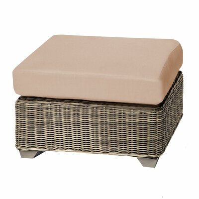 Cape Cod Ottoman with Cushion Fabric: Wheat