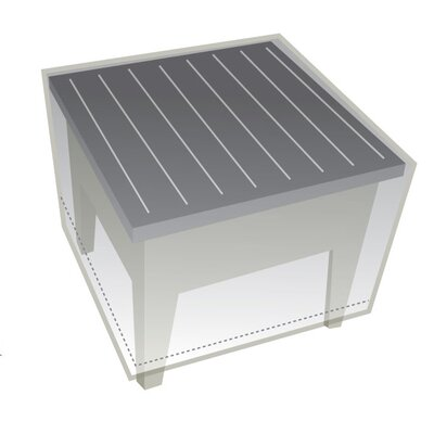 Outdoor Protective Wicker End Table Cover