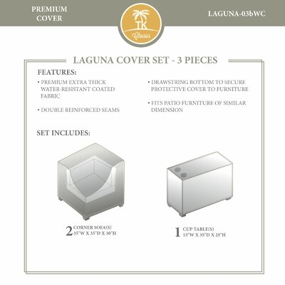 Laguna Winter 3 Piece Cover Set