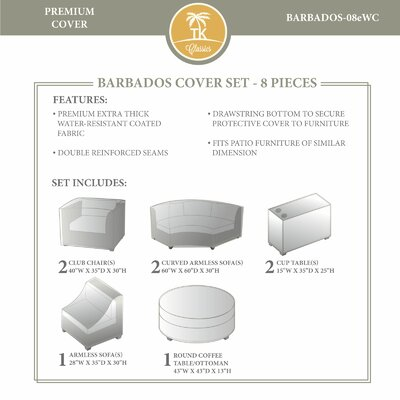 Barbados Winter 8 Piece Cover Set