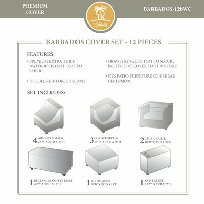 Barbados Winter 12 Piece Cover Set