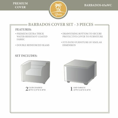 Barbados Winter 3 Piece Cover Set