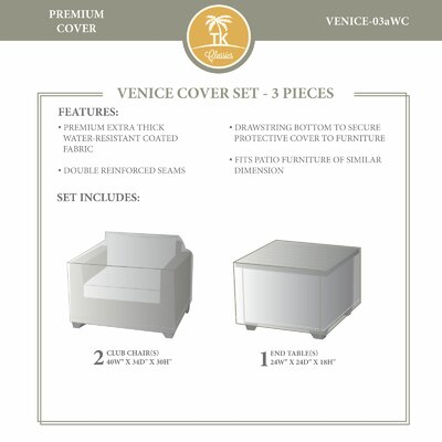 Venice Winter 3 Piece Cover Set