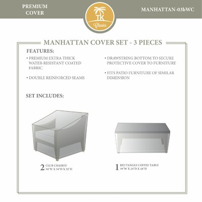 Manhattan Winter 3 Piece Cover Set