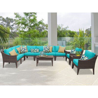 Manhattan 11 Piece Sectional Seating Group with Cushion Fabric: Aruba