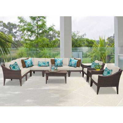 Manhattan 11 Piece Sectional Seating Group with Cushion Fabric: Beige