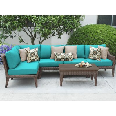 Manhattan 6 Piece Sectional Seating Group with Cushion Fabric: Aruba