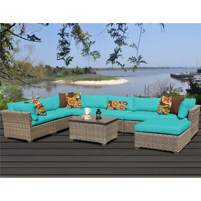 Monterey 9 Piece Sectional Seating Group with Cushion Fabric: Aruba