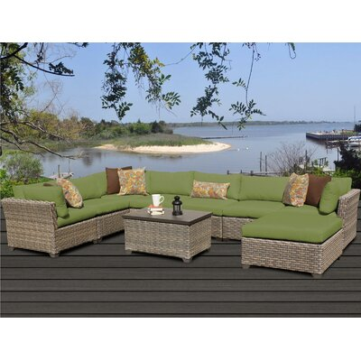 Monterey 9 Piece Sectional Seating Group with Cushion Fabric: Cilantro