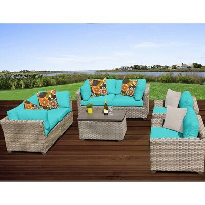 Monterey 7 Piece Deep Seating Group with Cushion Fabric: Aruba