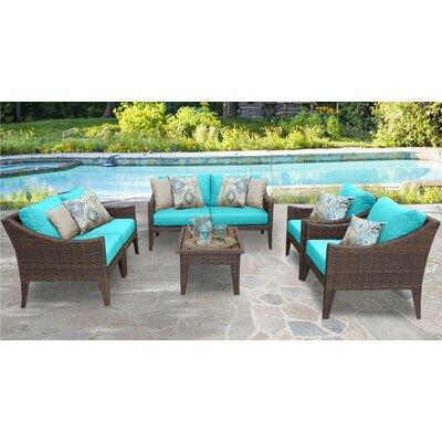 Manhattan 7 Piece Deep Seating Group with Cushion Fabric: Aruba