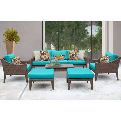 Manhattan 8 Piece Deep Seating Group with Cushion Fabric: Aruba