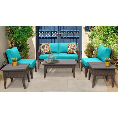 Manhattan 7 Piece Deep Seating Group with Cushion Fabric: Aruba