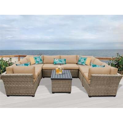 Monterey 9 Piece Sectional Seating Group with Cushion Fabric: Wheat