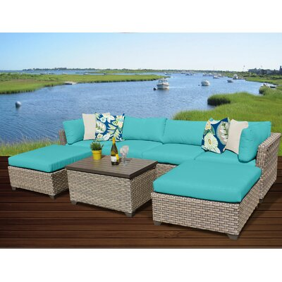 Monterey 7 Piece Sectional Seating Group with Cushion Fabric: Aruba
