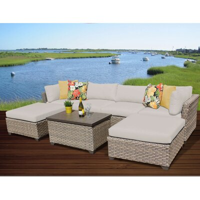 Monterey 7 Piece Sectional Seating Group with Cushion Fabric: Beige