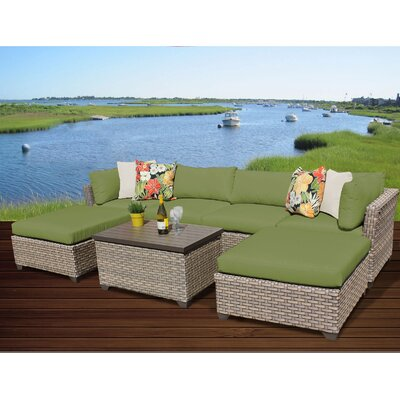 Monterey 7 Piece Sectional Seating Group with Cushion Fabric: Cilantro