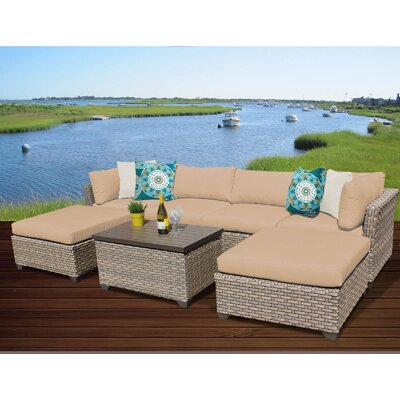 Monterey 7 Piece Sectional Seating Group with Cushion Fabric: Wheat