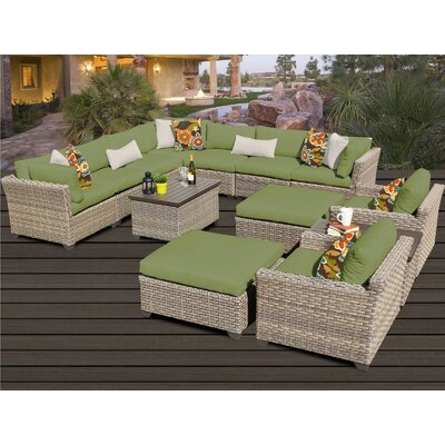 Monterey 13 Piece Sectional Seating Group with Cushion Fabric: Cilantro