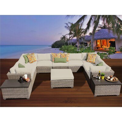 Monterey 12 Piece Sectional Seating Group with Cushion Fabric: Beige