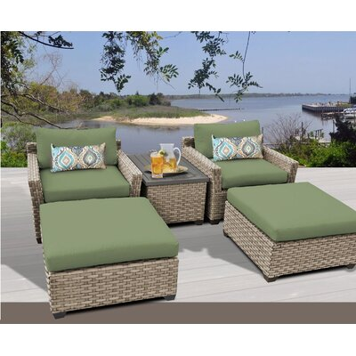 Monterey 5 Piece Deep Seating Group with Cushion Fabric: Cilantro