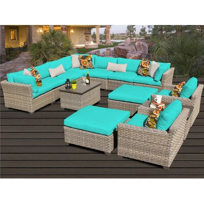 Monterey 13 Piece Sectional Seating Group with Cushion
