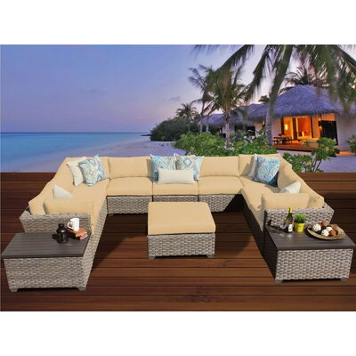 Monterey 12 Piece Sectional Seating Group with Cushion Fabric: Sesame
