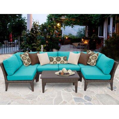 Manhattan 7 Piece Sectional Seating Group with Cushion Fabric: Aruba