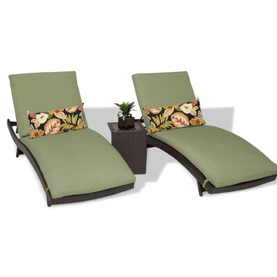 Bali 3 Piece Chaise Lounge Set with Cushion Color: Cilantro