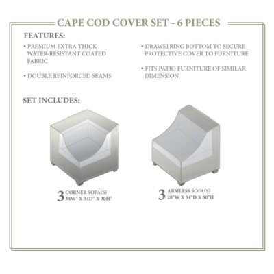 Cape Cod Winter 6 Piece Cover Set