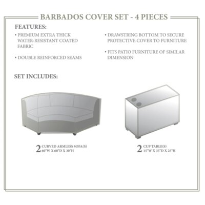 Barbados Winter 4 Piece Cover Set