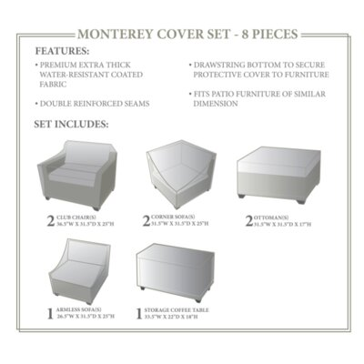 Monterey Winter 8 Piece Cover Set