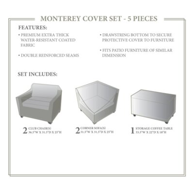 Monterey Winter 5 Piece Cover Set