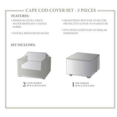 Cape Cod Winter 3 Piece Cover Set