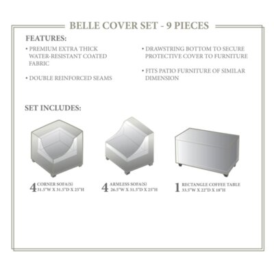 Belle Winter 9 Piece Cover Set