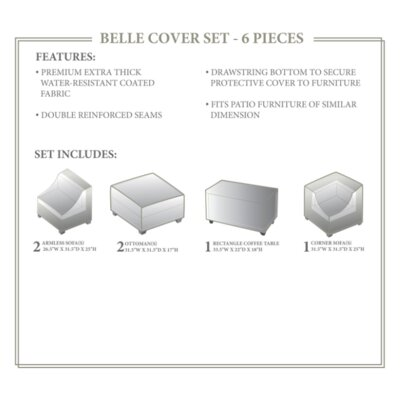 Belle Winter 6 Piece Cover Set