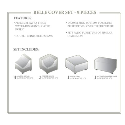 Belle Winter 9 Piece Cover Set