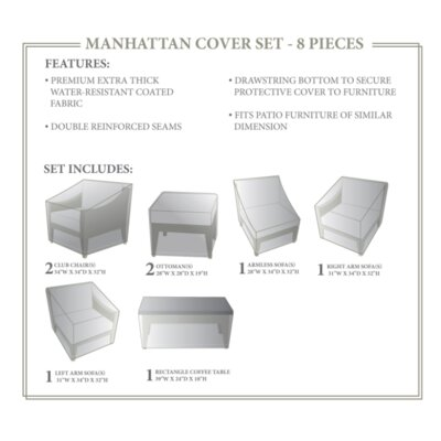 Manhattan Winter 8 Piece Cover Set