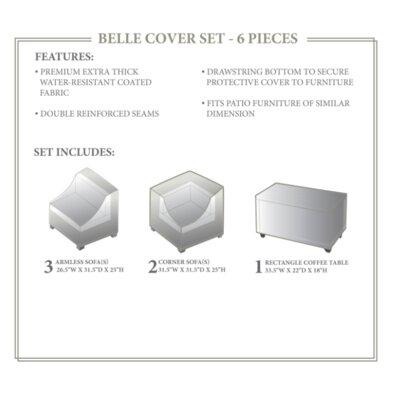 Belle Winter 6 Piece Cover Set