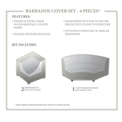 Barbados Winter 3 Piece Sofa Cover Set