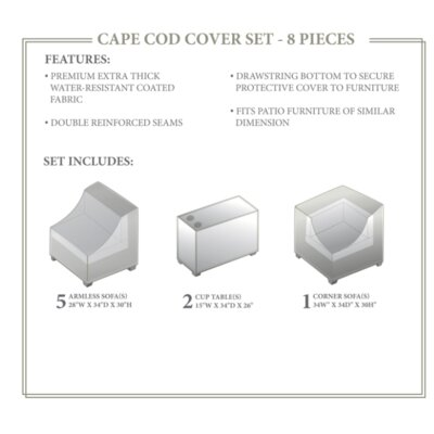 Cape Cod Winter 8 Piece Cover Set