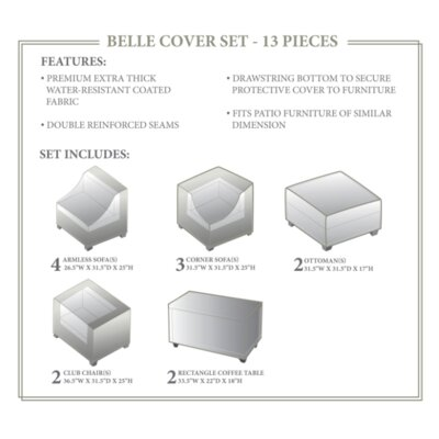 Belle Winter 13 Piece Cover Set