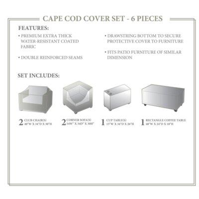 Cape Cod Winter 6 Piece Sofa Cover Set